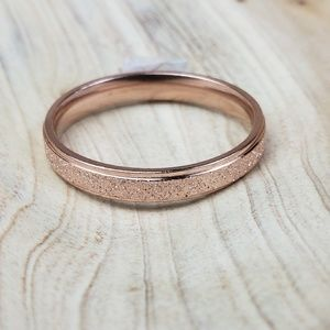 Other - Rose Gold Sparkle Finish Ring 4mm